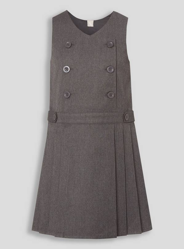Grey Permanent Pleat School Dress 12 years