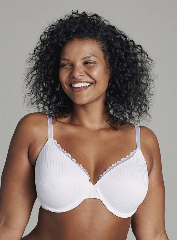 Jacquard Stripe Full Cup Bra 2 Pack - 34A