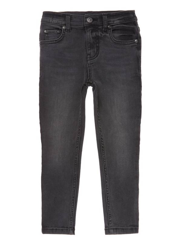 Black Washed Super Skinny Denim Jean - 13 years