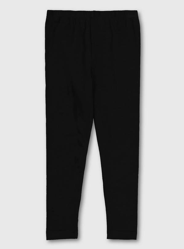 Black Plain Leggings - 12 years