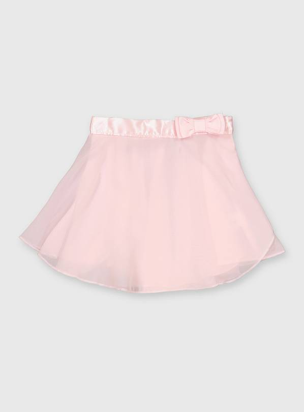Pink Bow Detail Ballet Skirt - 3 years
