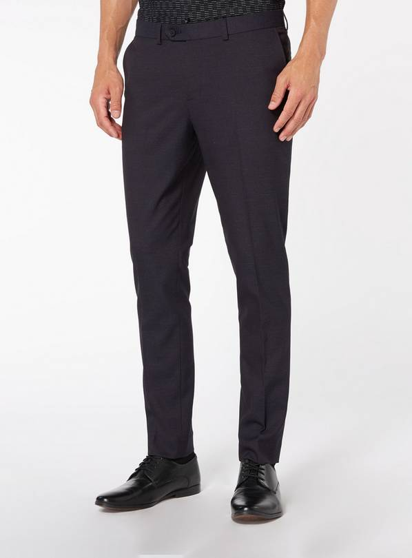 Purple Skinny Fit Stretch Trouser - W44 L33