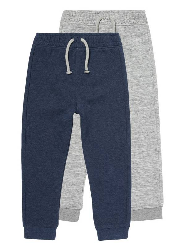Multicoloured Elasticated Joggers 2 Pack - 9-12 months