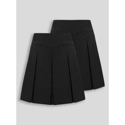 78d21f14a0 Buy Black Permanent Pleat Skirt 2 Pack - 14 years | Girls school ...