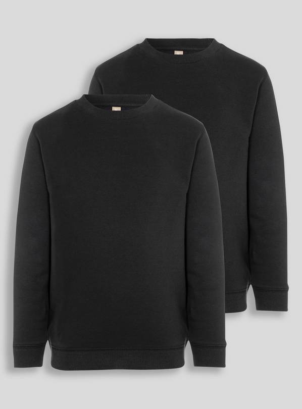Online Exclusive Black Crew Neck Sweatshirt 2 Pack - 8 years