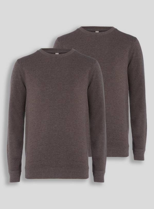 Online Exclusive Charcoal Crew Neck Sweatshirt 2 Pack - 12 y