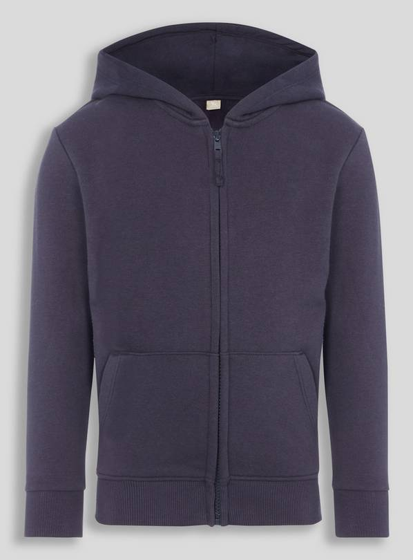 Navy Zip Through Hoodie - 16 years