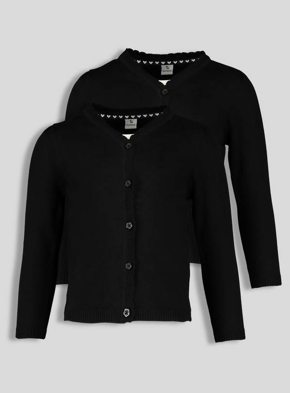 Black Scalloped Cardigan 2 Pack - 16 years