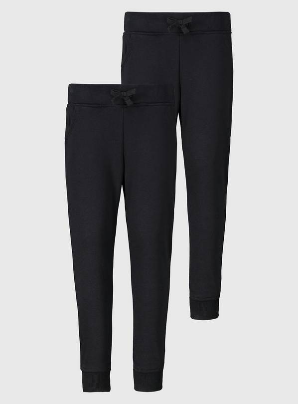 Black Joggers 2 Pack - 8 years