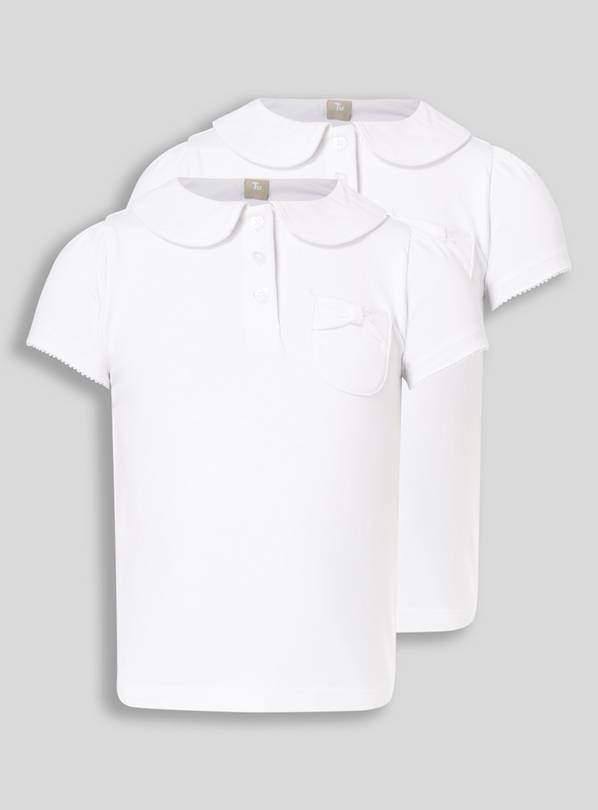 White 2 Pack Fashion Jersey Polo - 6 years