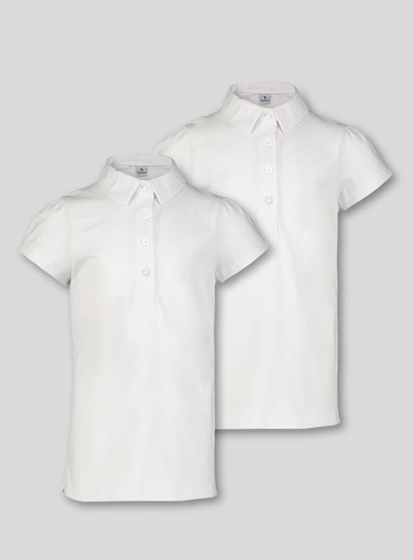 White 2 Pack Fashion Polo Jersey - 14 years