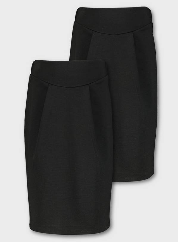 Black Jersey Tulip Skirt 2 Pack - 14 years