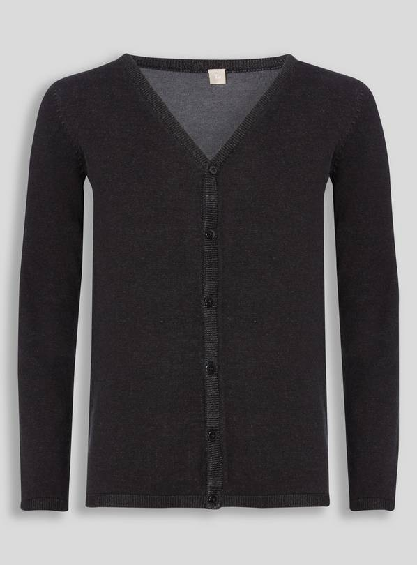 Black V-Neck Cardigan - 7 years