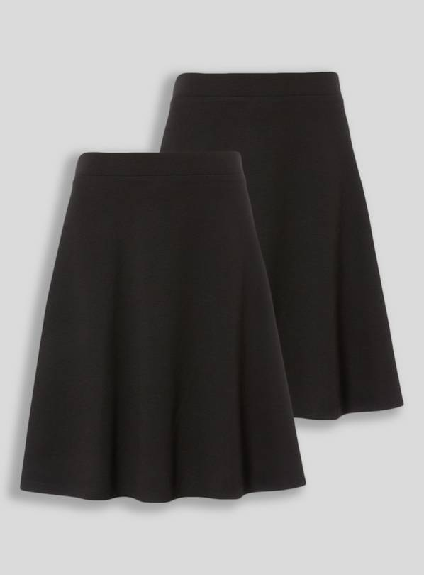 Black Jersey Skater Skirt 2 Pack - 13 years