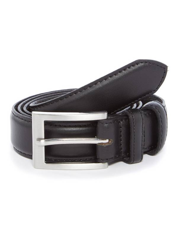 Black Formal Leather Belt - M