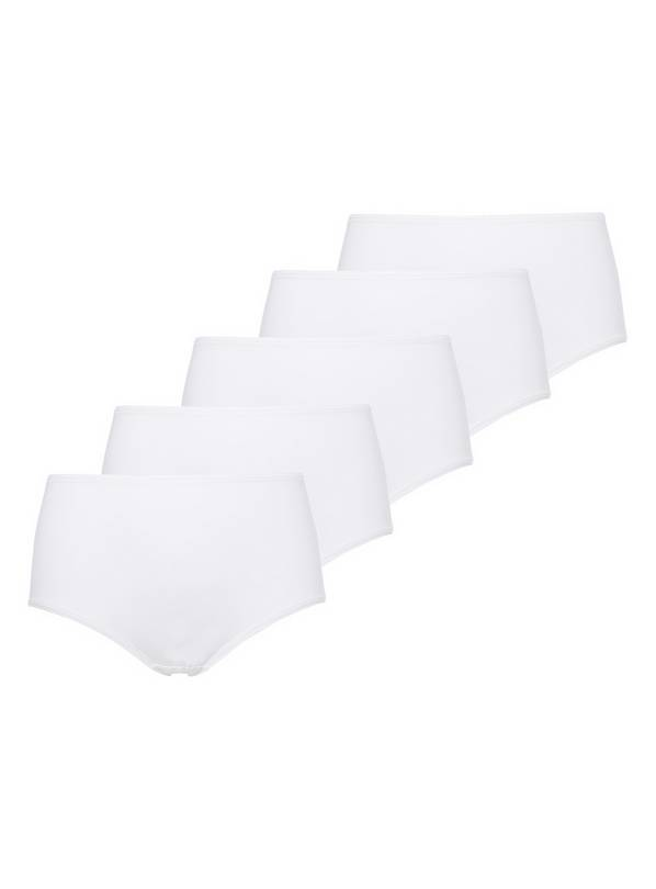 White Midi Knickers 5 Pack - 16