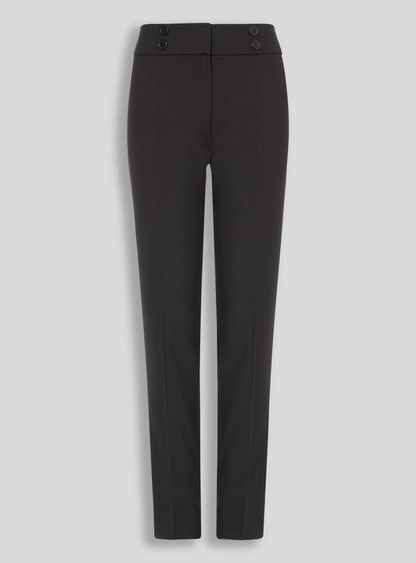 Black Longer Leg Trousers - 9 years