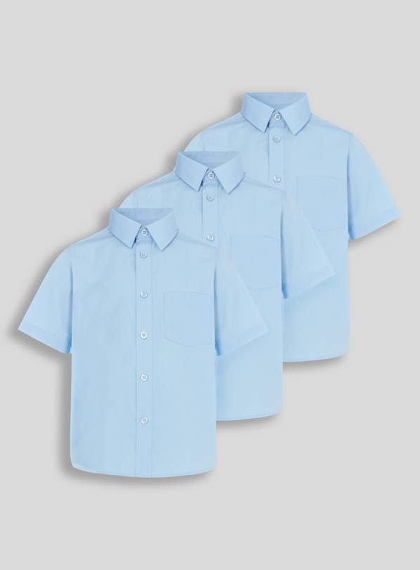 Blue School Shirts 3 Pack - 15 years
