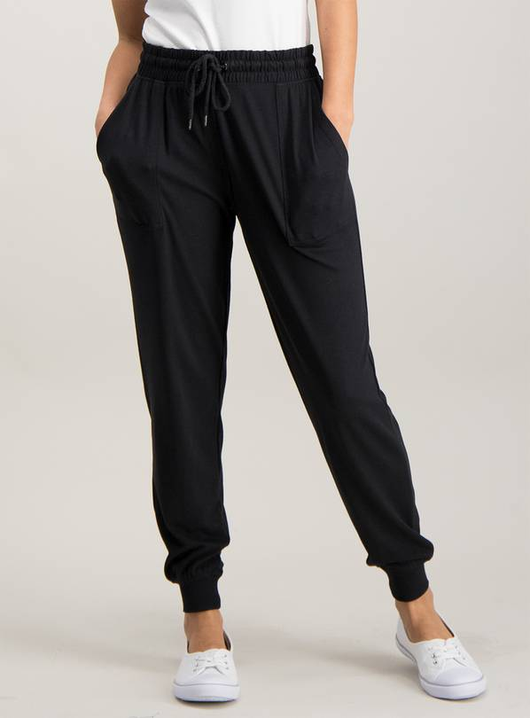 Black Patch Pocket Joggers - 8