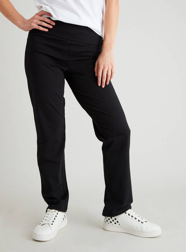 Black Roll Top Joggers - 16