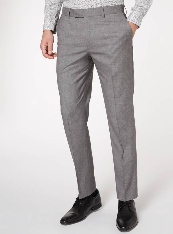 Light Grey Grindle Tailored Fit Suit Trousers - W36 L31