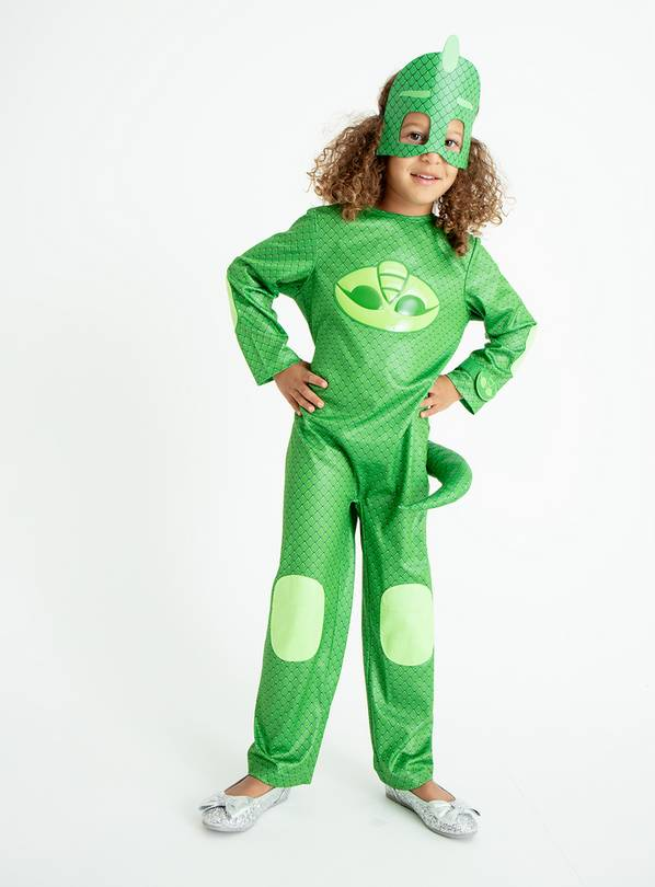 Green PJ Masks Gecko Costume - 7-8 years