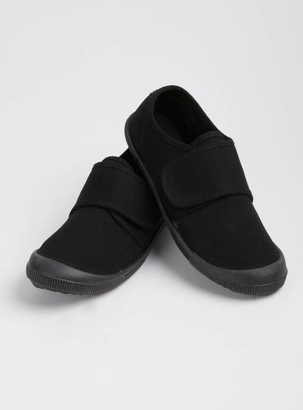 Black Touch And Close Plimsolls - 11 Infant