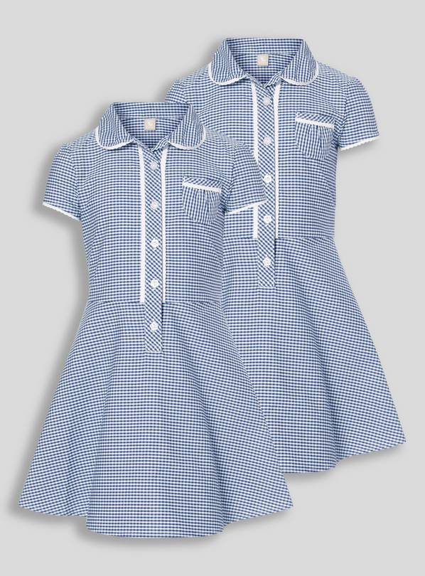 Navy Classic Gingham School Dresses 2 Pack - 6 years