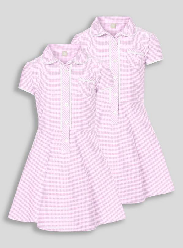 Pink Classic Gingham School Dresses 2 Pack - 4 years