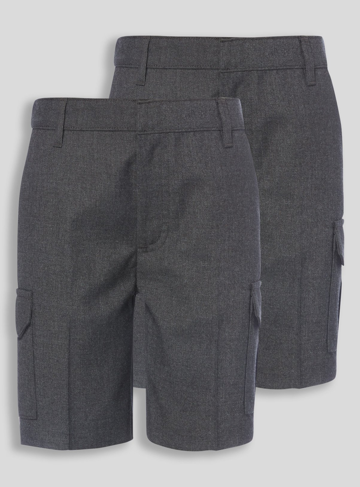 2 Pack Grey Cargo Shorts - 10 years