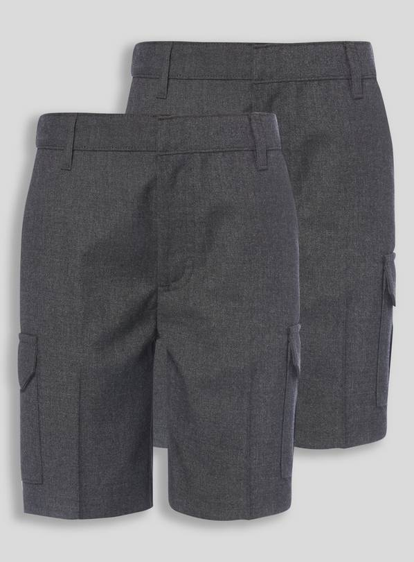2 Pack Grey Cargo Shorts - 4 years