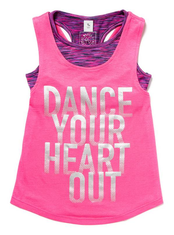 Pink Dance Vest Top and Crop Top Set - 3 years