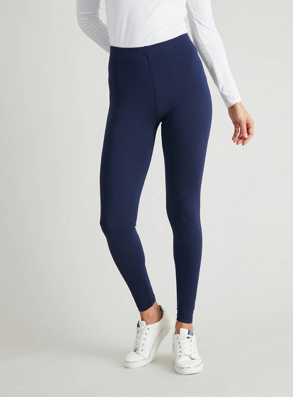 Navy Luxurious Soft Touch Leggings - 8