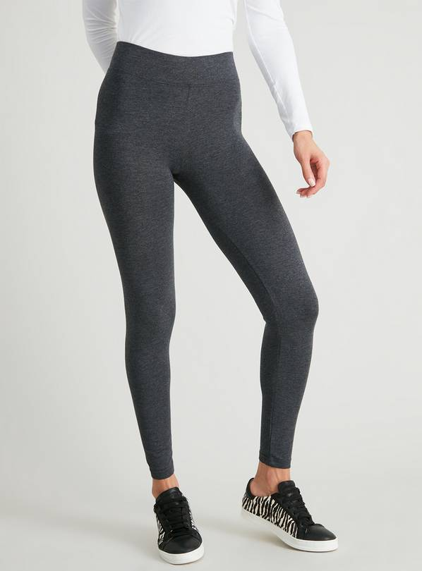 Grey Marl Luxury Soft Touch Leggings - 16