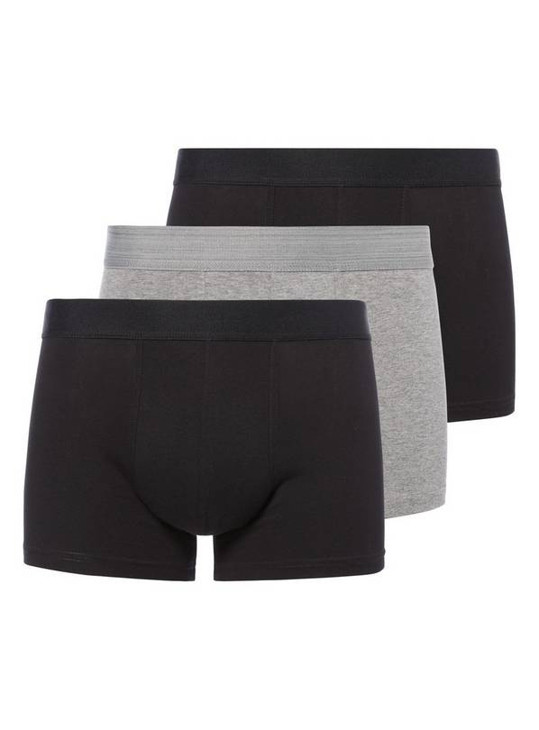 Black & Grey Hipster Briefs 3 Pack - S