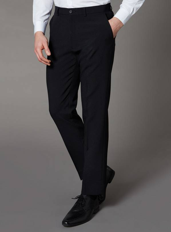 Black Tailored Fit Trousers - W34 L33