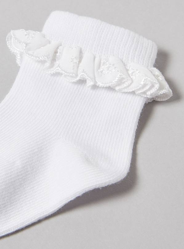 Gorgeous frilly tights by Soft Touch 6-12months, white