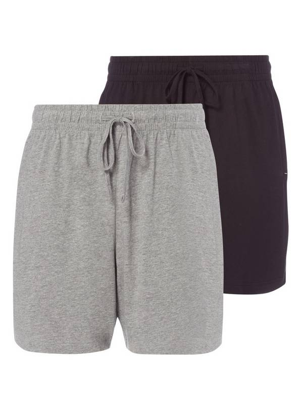 Grey & Black Lounge Shorts 2 Pack - XL