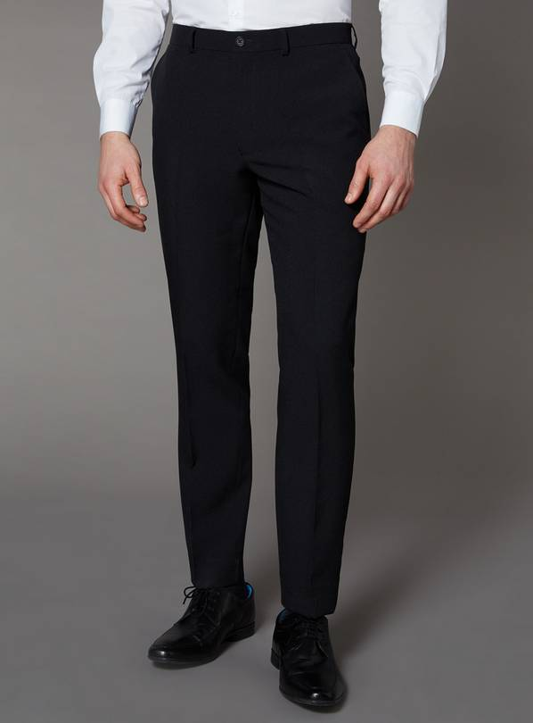 Black Slim Fit Trousers - W28 L29
