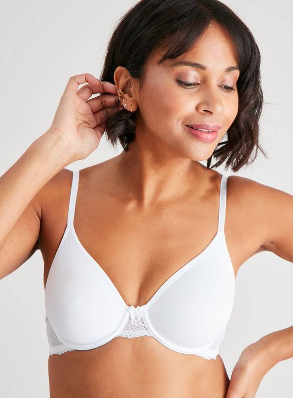 Beige Nude & White Non-Padded Smoothing Bra 2 Pack - 42D