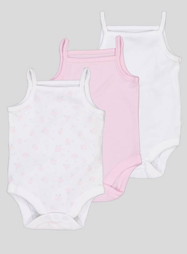 Multicoloured Strappy Bodysuits 3 Pack - 3-6 months