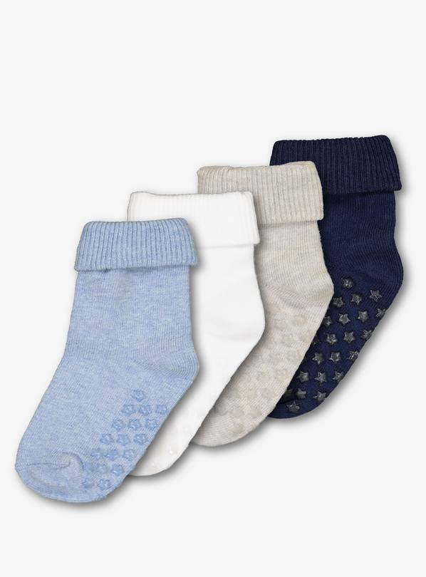 Multicoloured Roll Top Socks 4 Pack - 6-12 months