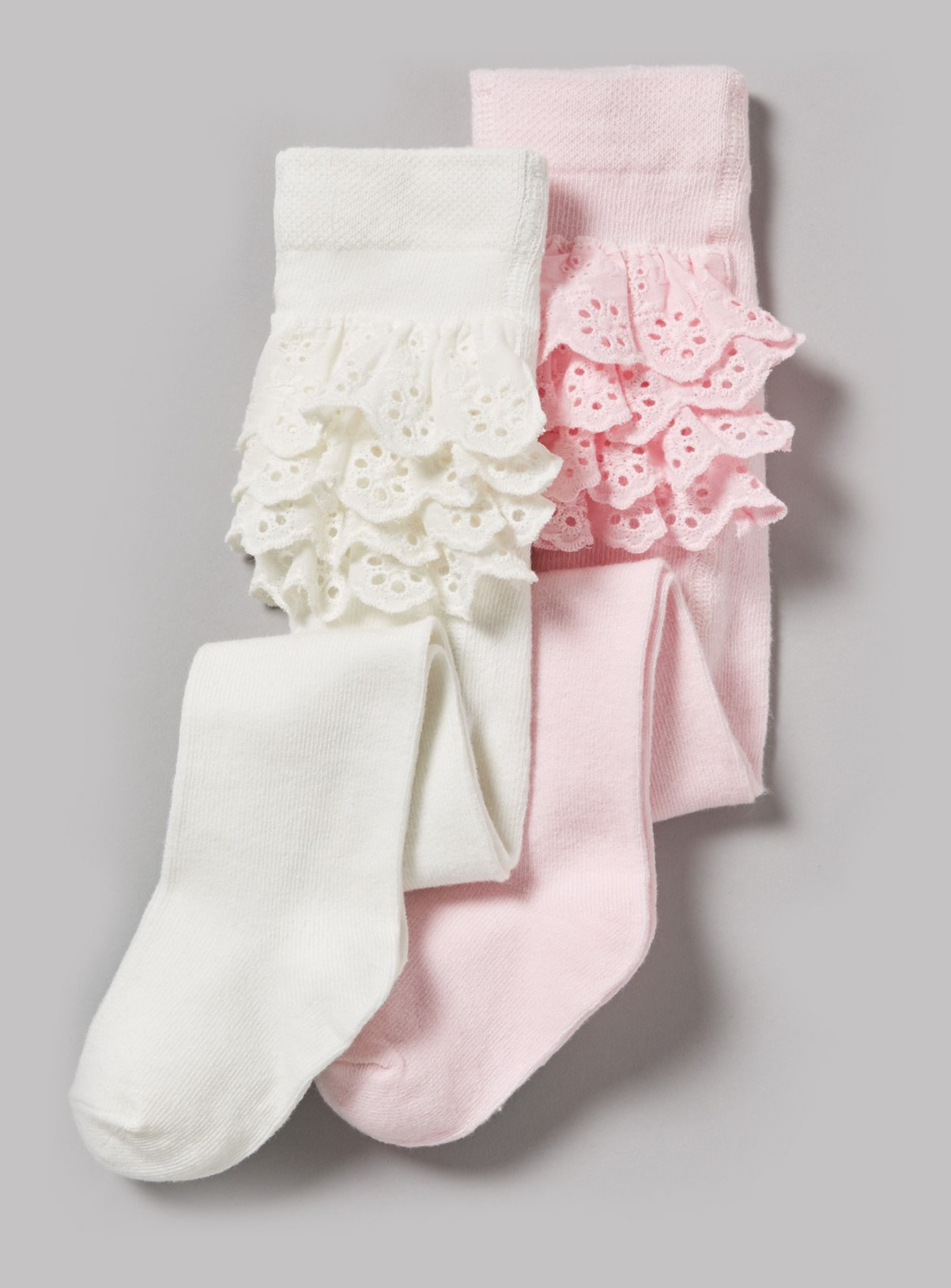 Frilly Bum Tights 12-18 Months Baby Girls Pink Frilly Bottom Tights