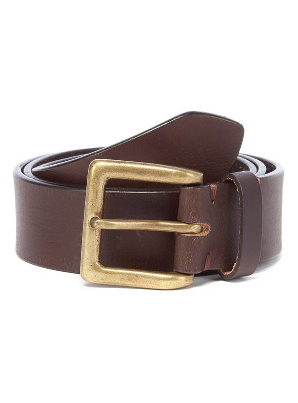 Brown Leather Casual Belt - XXL