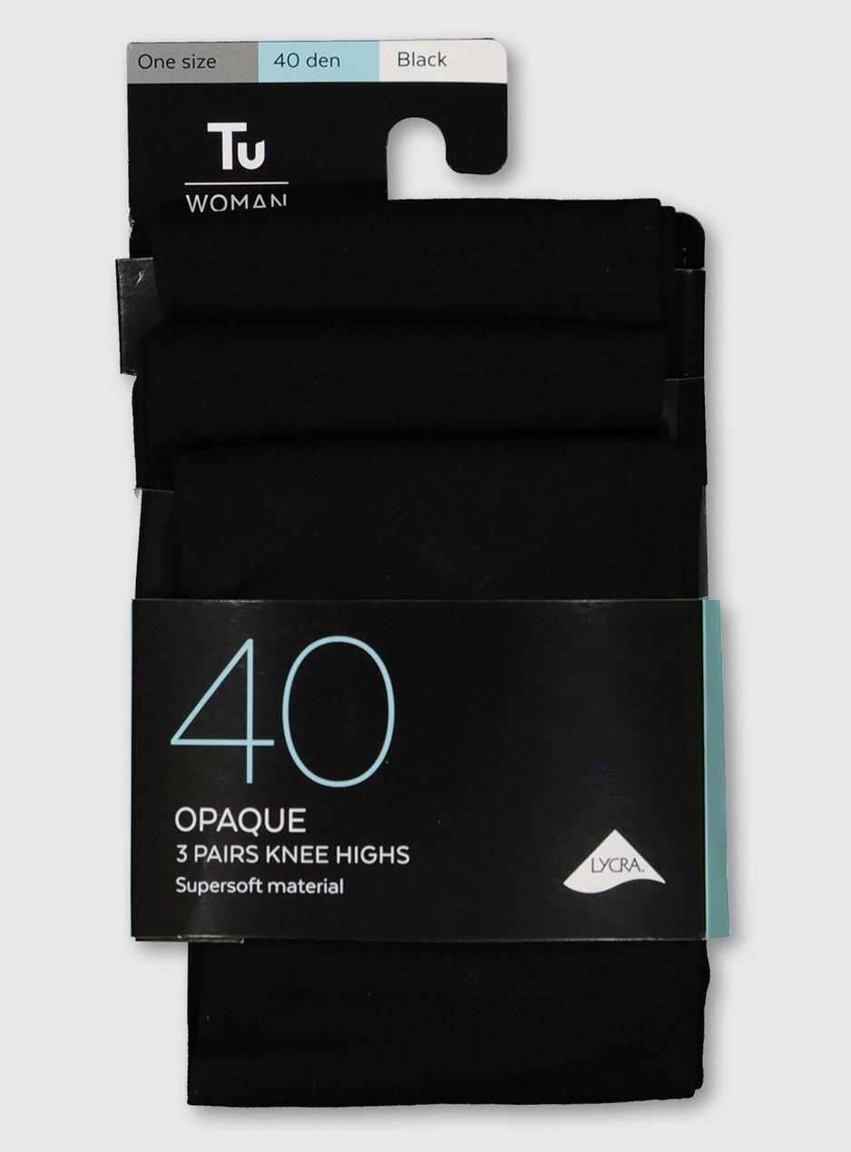 BLACK SOFT OPAQUE 40 DENIER THICK TIGHTS