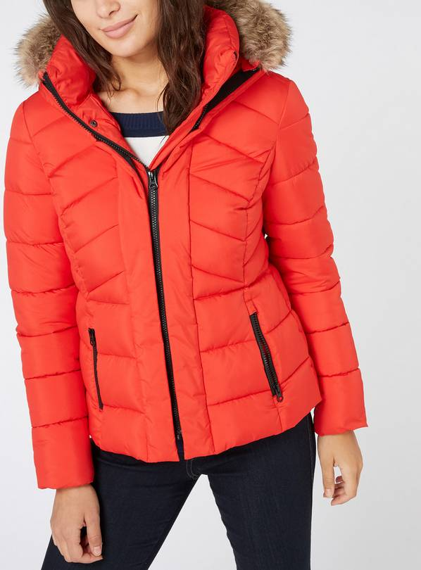Red Padded Coat - 6