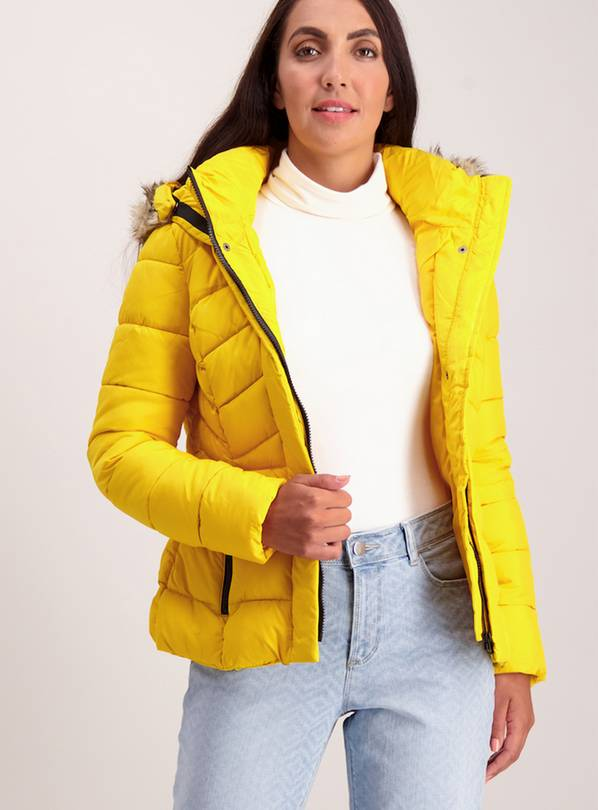 Yellow Sporty Padded Coat - 6