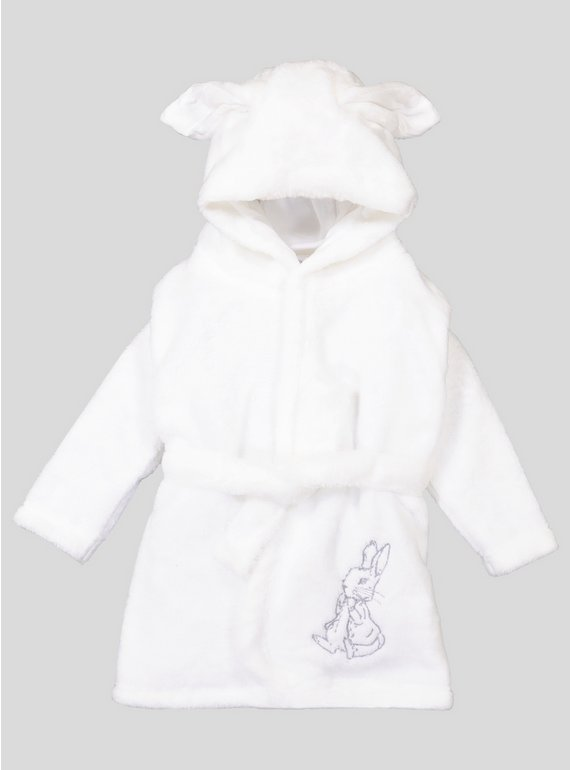 Buy White Peter Rabbit Dressing Gown - 3-6 months   Sleepsuits and ...