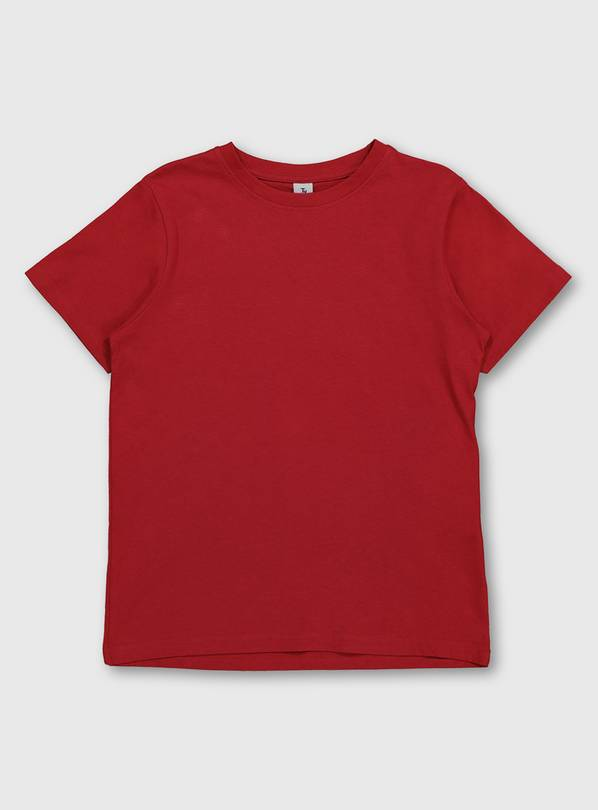 Red Crew Neck T-Shirt - 9 years