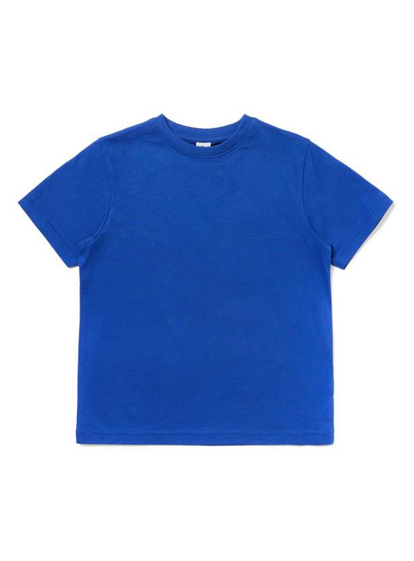 Blue Crew Neck T-Shirt - 8 years